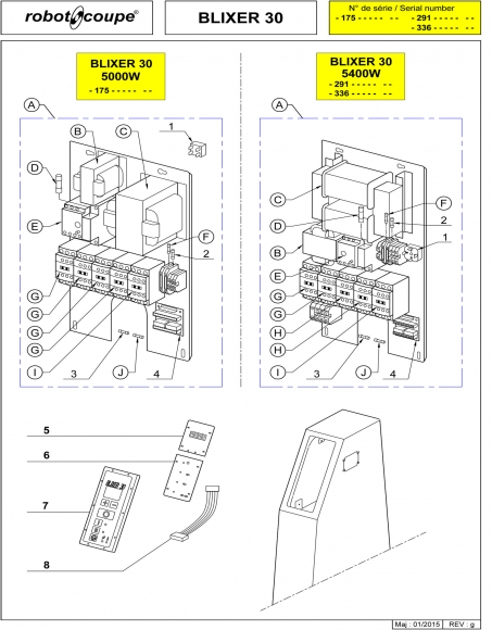 Blixer 30 - 5400W Spares - Page 3