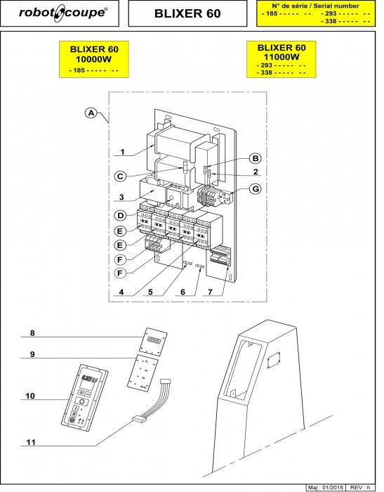 Blixer 60 - 11000W Spares - Page 3