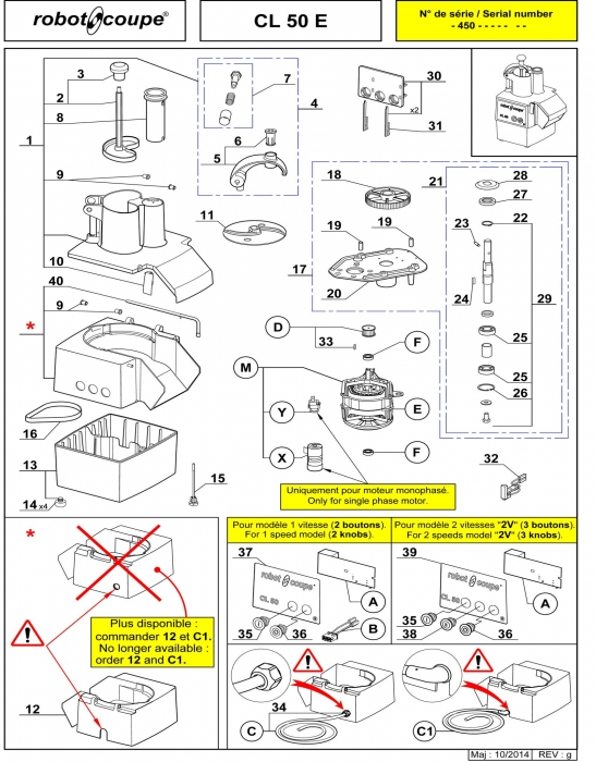 RC_CL50_E_PARTS.700 robot coupe cl50 e vegetable preparation machine spare parts Wiring Diagram for Robot Coupe R2 Dice at mifinder.co