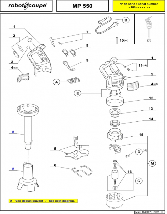 MP550 Spares Page 1