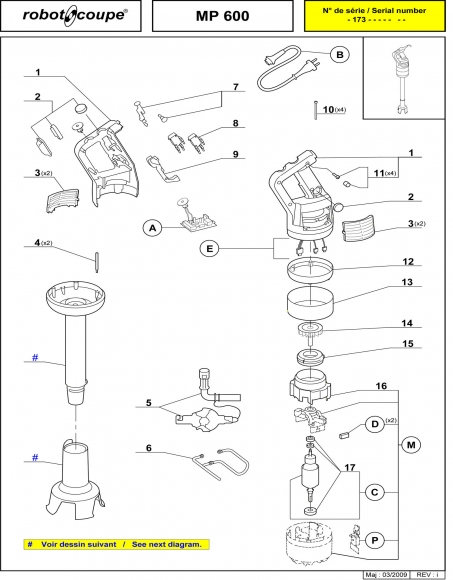 MP600 Spares Page 1