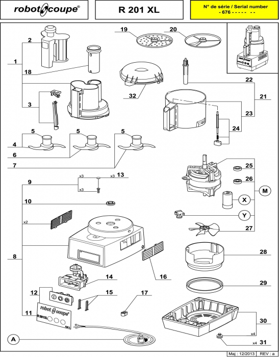 RC_R201_XL_PARTS.700 robot coupe r201 xl food processor spare parts robot coupe Wiring Diagram for Robot Coupe R2 Dice at mifinder.co