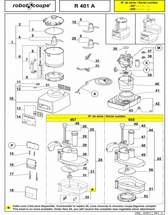 RC_R401_A_PARTS.700 robot coupe r401 a food processor spare parts robot coupe Wiring Diagram for Robot Coupe R2 Dice at mifinder.co