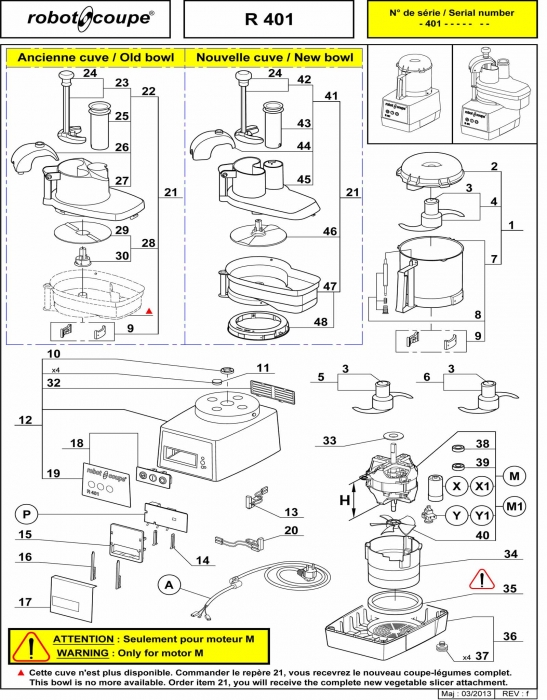 RC_R401_PARTS.700 robot coupe r401 food processor spare parts robot coupe machines Wiring Diagram for Robot Coupe R2 Dice at mifinder.co