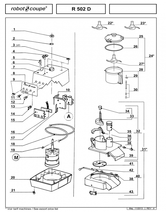 RC_R502_D_PARTS_copy.700 robot coupe r502 d food processor spare parts robot coupe Wiring Diagram for Robot Coupe R2 Dice at mifinder.co