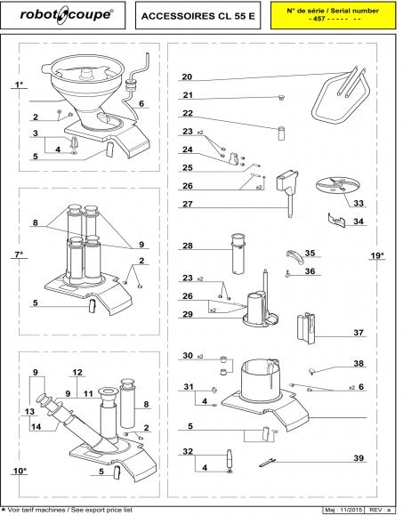 CL55 E Accessories Spares P1