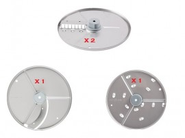 ROBOT COUPE RESTAURANT 4 DISCS PACK FOR CL20 R201 R211 R301 R401 R402 MACHINES - 1907