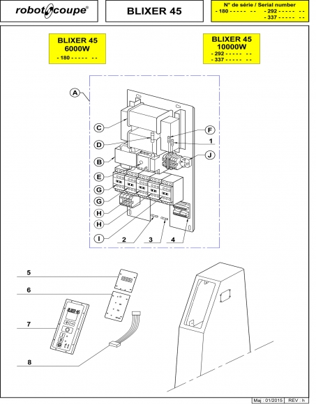 Blixer 45 - 10000W Spares - Page 3