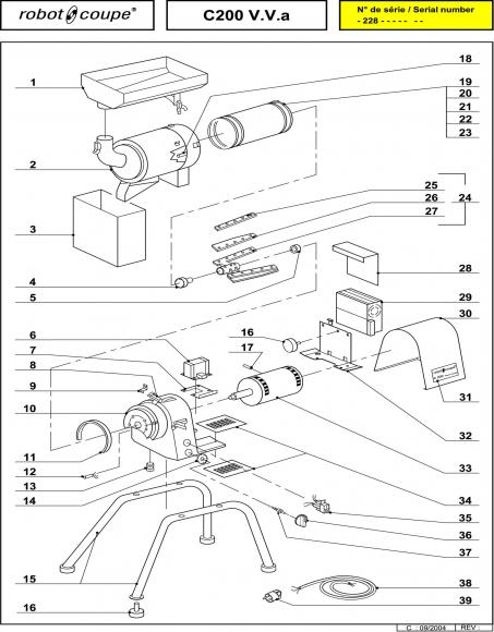 C200 A V.V. Spares