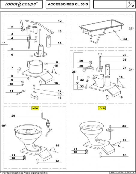 CL55 D Accessories Spares P1
