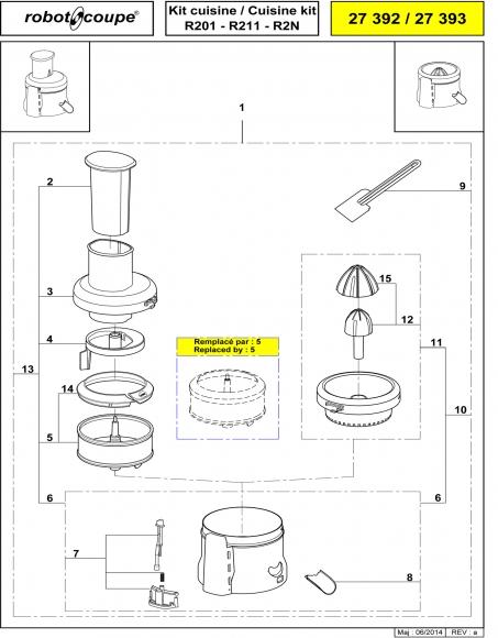 R201 R211 R2N Cuisine Kit Spares