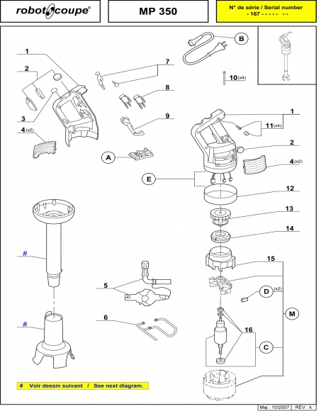 MP350 Spares Page 1