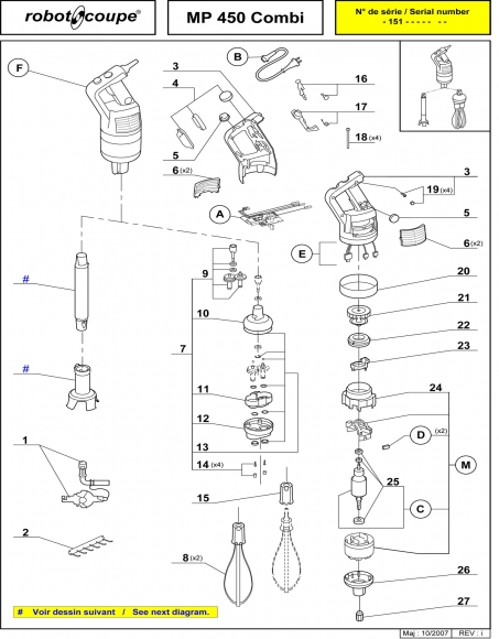 MP450 Combi Spares Page 1