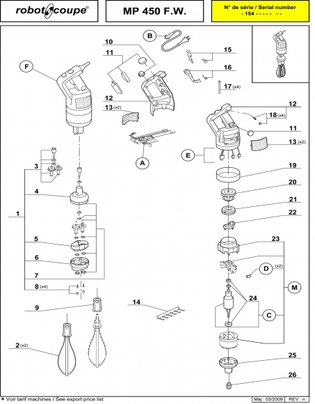 MP450 FW Spares