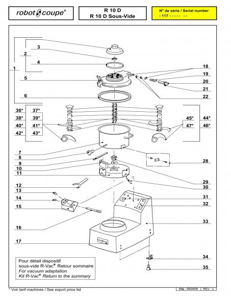 R10 D Sous-Vide Spares P1