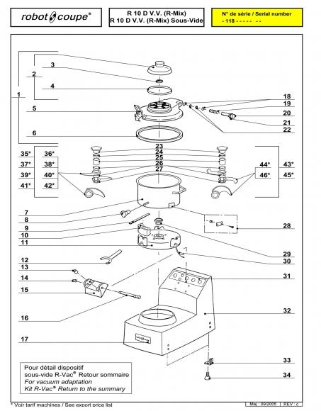 R10 D V.V. Sous-Vide Spares P1