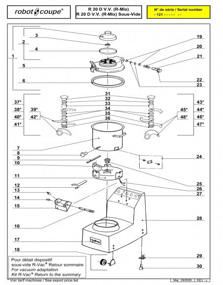 R20 D V.V. Sous-Vide Spares - Page 1