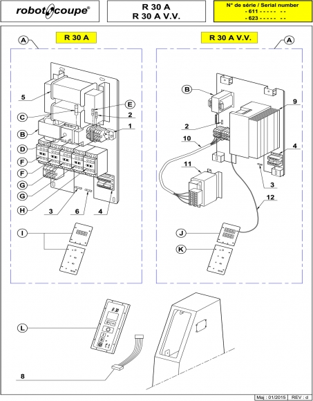 robot coupe r30a    r30 v v  a floor standing vertical
