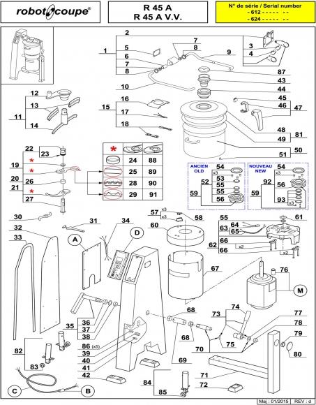 R45 A / R45 A V.V. Spares - Page 1