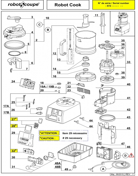 Robot Cook Machine Spares